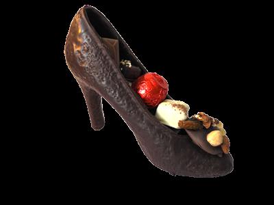 Chaussure à talon au chocolat LAIT