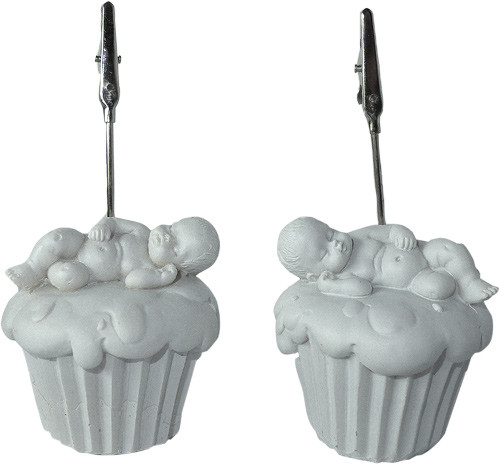 Sujet bébé cupcake - clip prénom