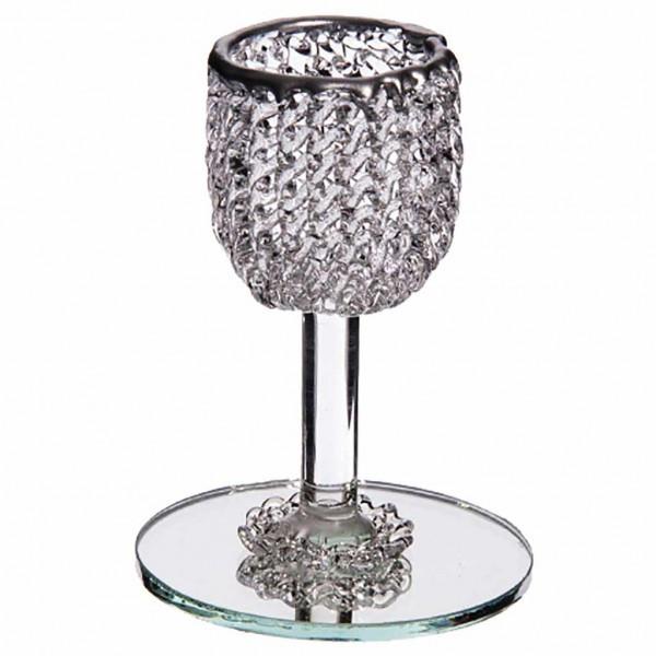 Calice en verre à personnaliser avec une gravure et des dragées