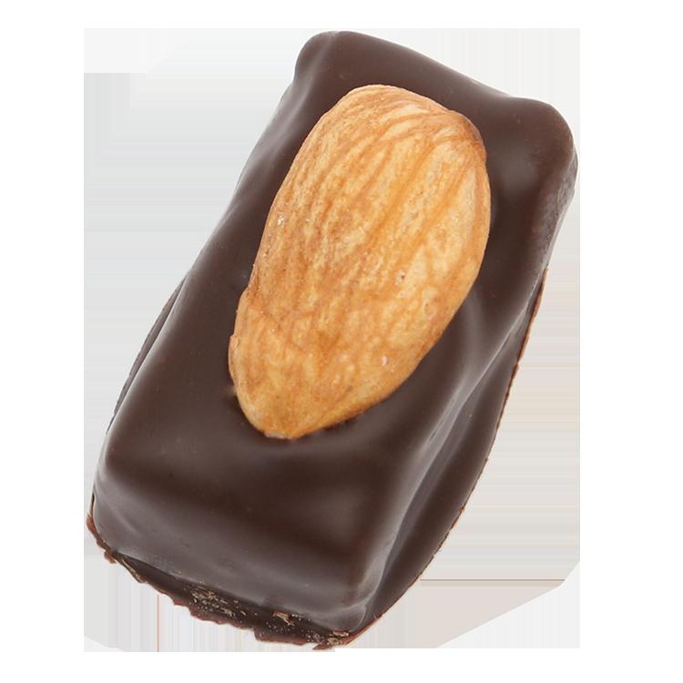 Estella - Pâte d'amande recouverte d'une fine couche de chocolat et d'une amande grillée