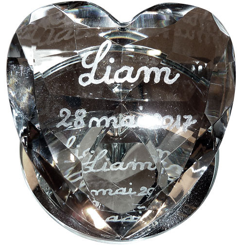 Exemple de gravure sur le coeur petit