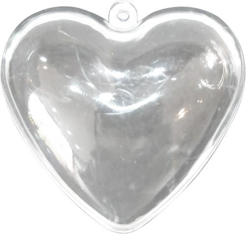 Coeur transparent à garnir de bonbons ou de dragées