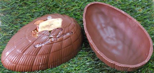 Coquille d'oeuf en chocolat belge à garnir