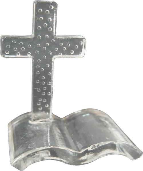 Croix et Livre en verre de Dragées & Chocolats