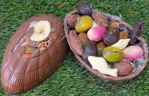 Coquille d'oeuf en chocolat belge