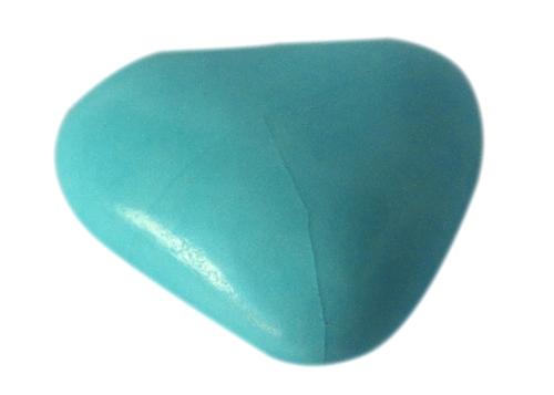 Notre dragée mini coeur Bleu Turquoise - chocolat
