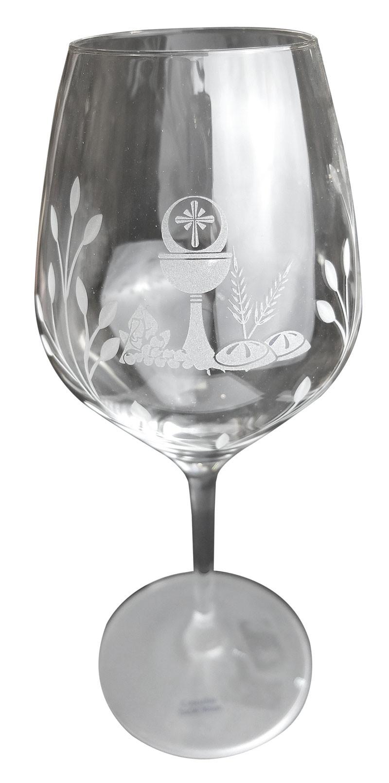 Verre de Communion Eucharistie Calice et pain