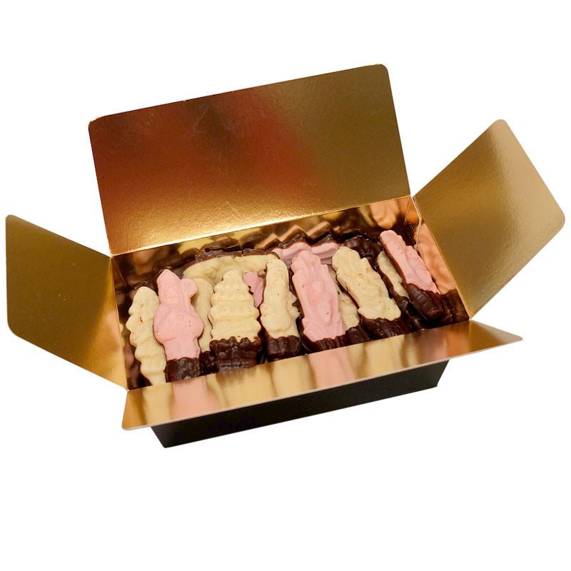 Coffret Gourmand 45 guimauves de Noël au chocolat noir - 460g