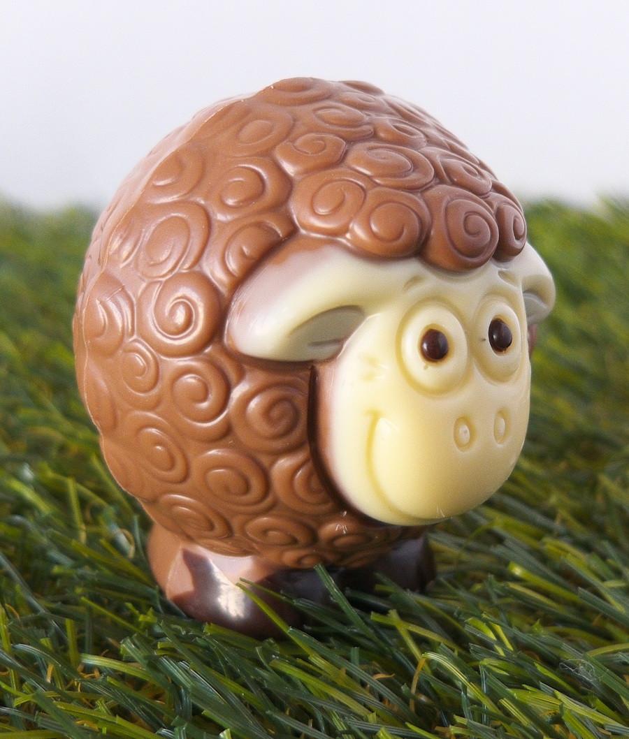 Nos moutons en chocolat belge
