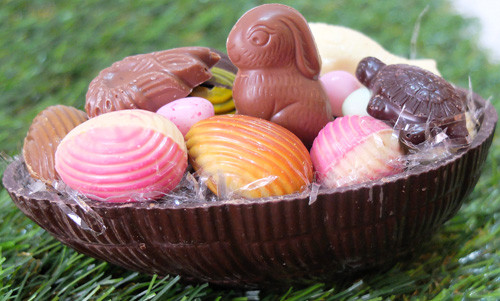 Demi coquille d'oeuf en chocolat de Pâques