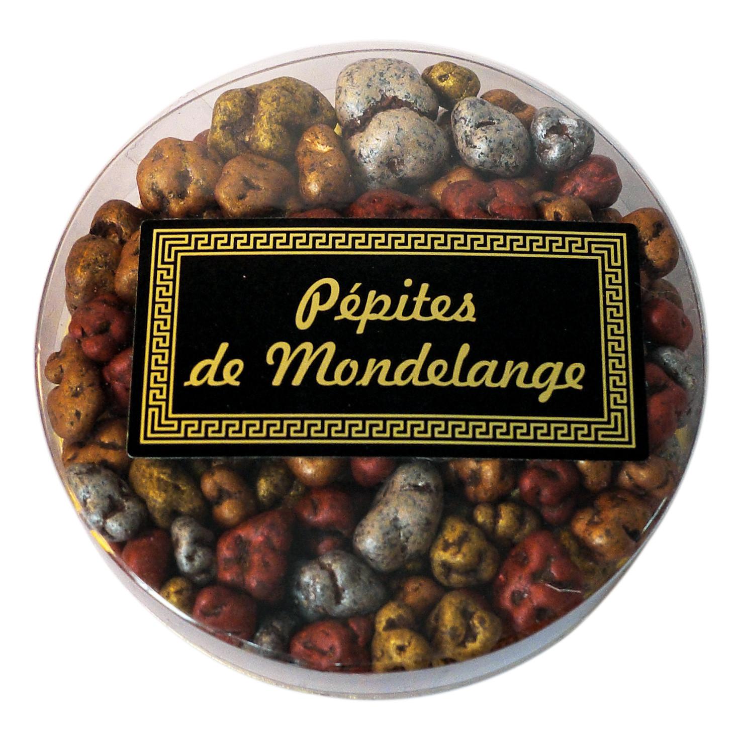 Eclats de Nougats au chocolat. Pépites de Mondelange
