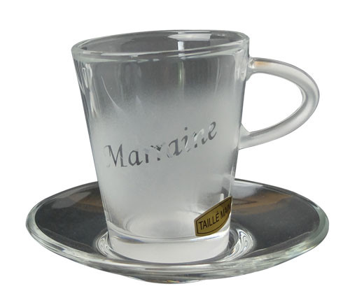 Tasse en verre Marraine