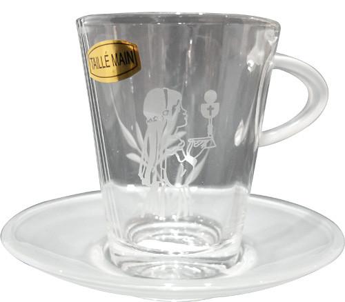Tasse en verre de communion FILLE