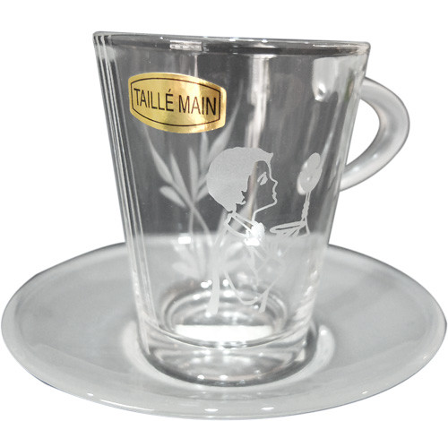 Tasse en verre de communion GARCON