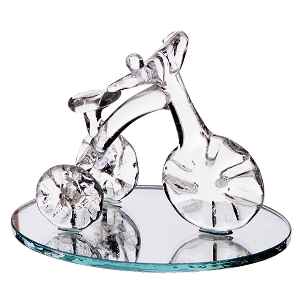 Tricycle en verre sur miroir grand modèle
