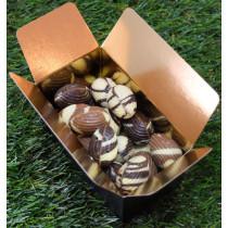 Ballotin d'oeufs en chocolat sans sucre - chocolat praliné noisette