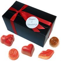 """Le coffret Saint Valentin: Les chocolats Saint Valentin + des pralinés """"classiques"""""""