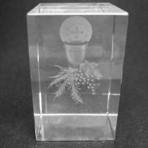 Cube en verre de Communion 3D de Dragées & Chocolats
