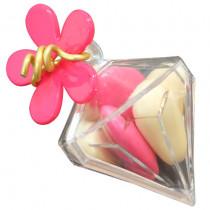 Boîte Diamant avec dragées et fleur