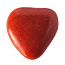 Notre dragée chocolat en forme de coeur rouge