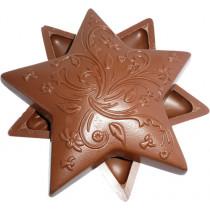 Etoile en chocolat belge