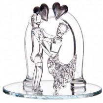 sujet couple mariés en verre à personnaliser