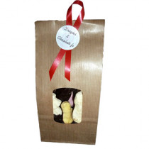 Sachet 12 pièces de guimauves de Noël mi-chocolat
