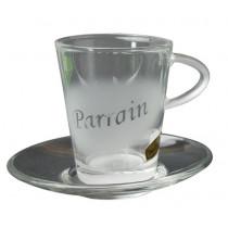 Tasse en verre Parrain
