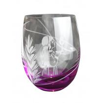 Mini verre de Communion rose fille