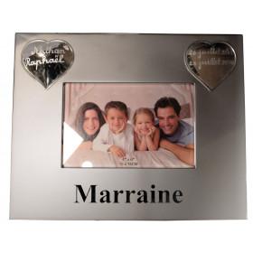 Cadre photo Marraine coeur à personnaliser - cadeau baptême & Communion
