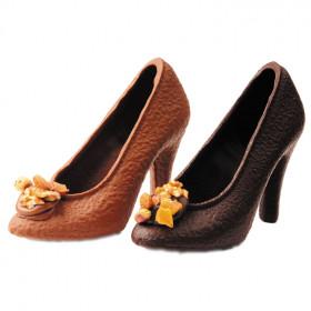 Chaussure à talon en chocolat NOIR