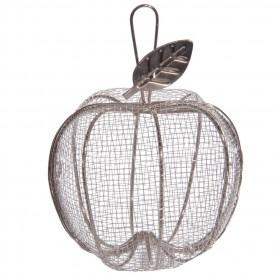 Contenant en métal panier Pomme - Garni de Dragées