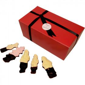 Grand coffret 45 guimauves de Noël au chocolat noir - 765g