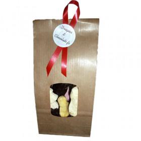 Guimauves mi-chocolat sachet 16 pièces Joyeux Noël - 350g - chocolat noir