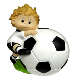 Tirelire cadeau footballeur et son joueur de foot