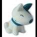 Notre chien bleu et blanc lumineux