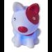 Notre chien rose et blanc lumineux - flash bleu