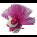 Exemple de présentation du chien rose et blanc lumineux