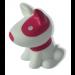 Notre chien rose et blanc lumineux