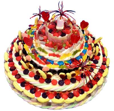 Gâteau de bonbons original - Dragées et Chocolats